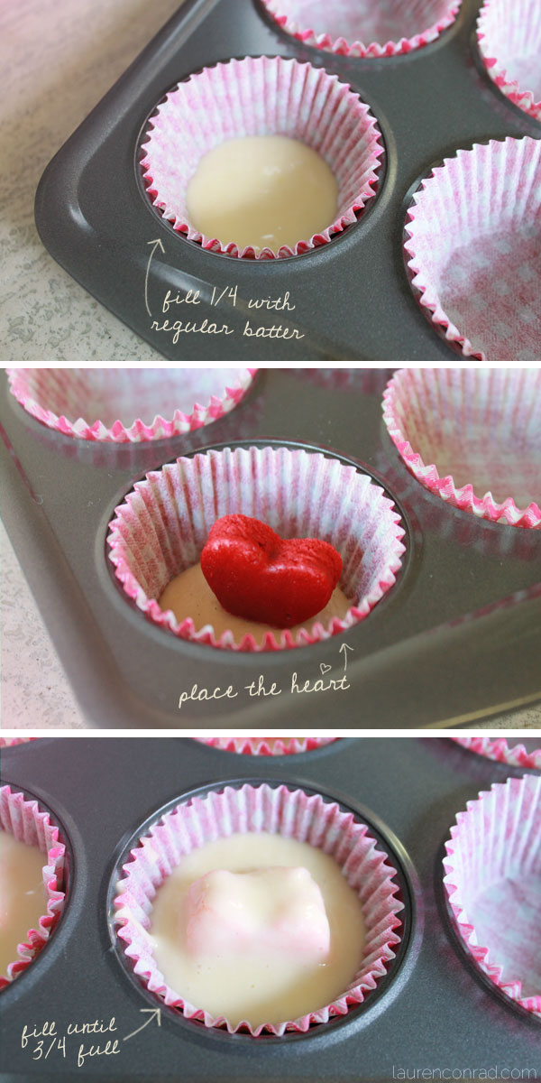 5 Photos of Valentine's Cupcakes With Heart Inside