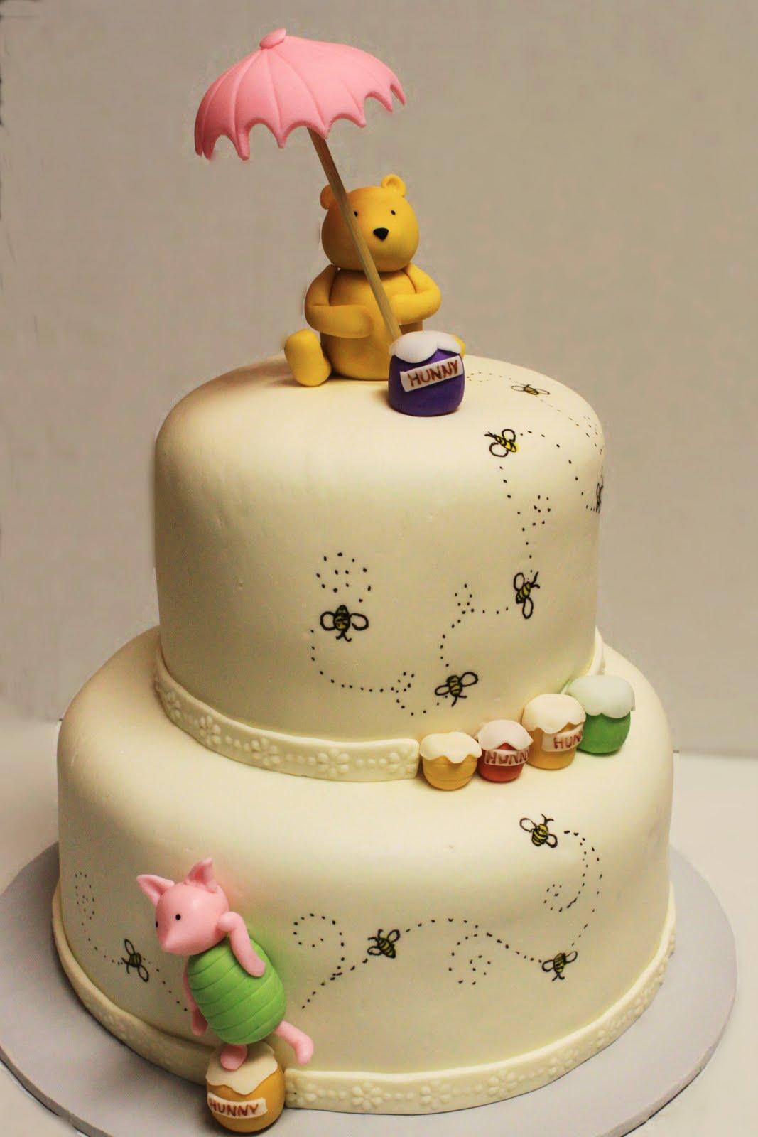Winnie the Pooh Shower Cake