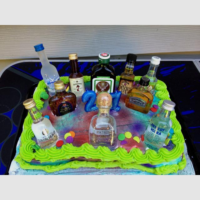 Astonishing 7 2 Layer Birthday Cakes Liquor Photo 21St Birthday Cakes With Funny Birthday Cards Online Necthendildamsfinfo
