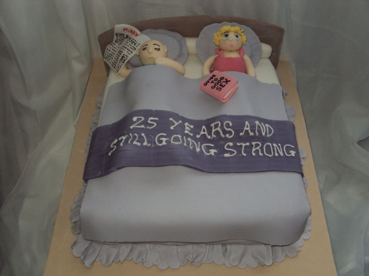 25th Wedding Anniversary Cake Idea