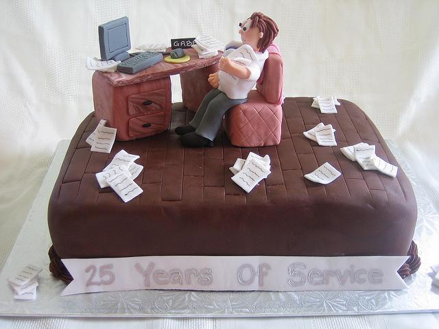 25th Work Anniversary Cake