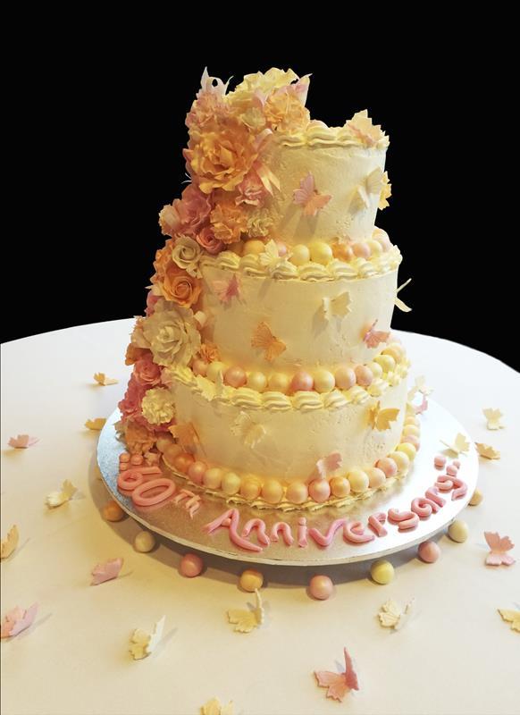 3 Tier Wedding Cake Anniversary