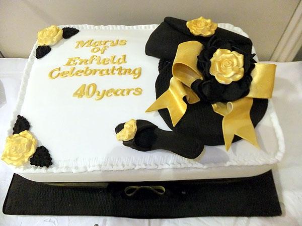 40 Year Work Anniversary Cake