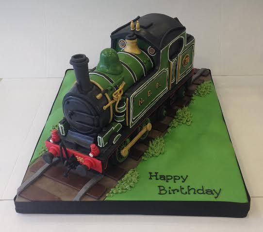 Superb 9 Steam Engine 3D Train Cakes Photo Steam Train Birthday Cake Personalised Birthday Cards Arneslily Jamesorg