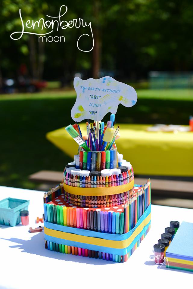 5 Art Birthday Cakes S Photo Paint Themed Party Ideas