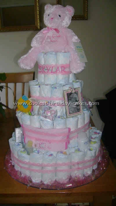Baby Diaper Cake Instructions
