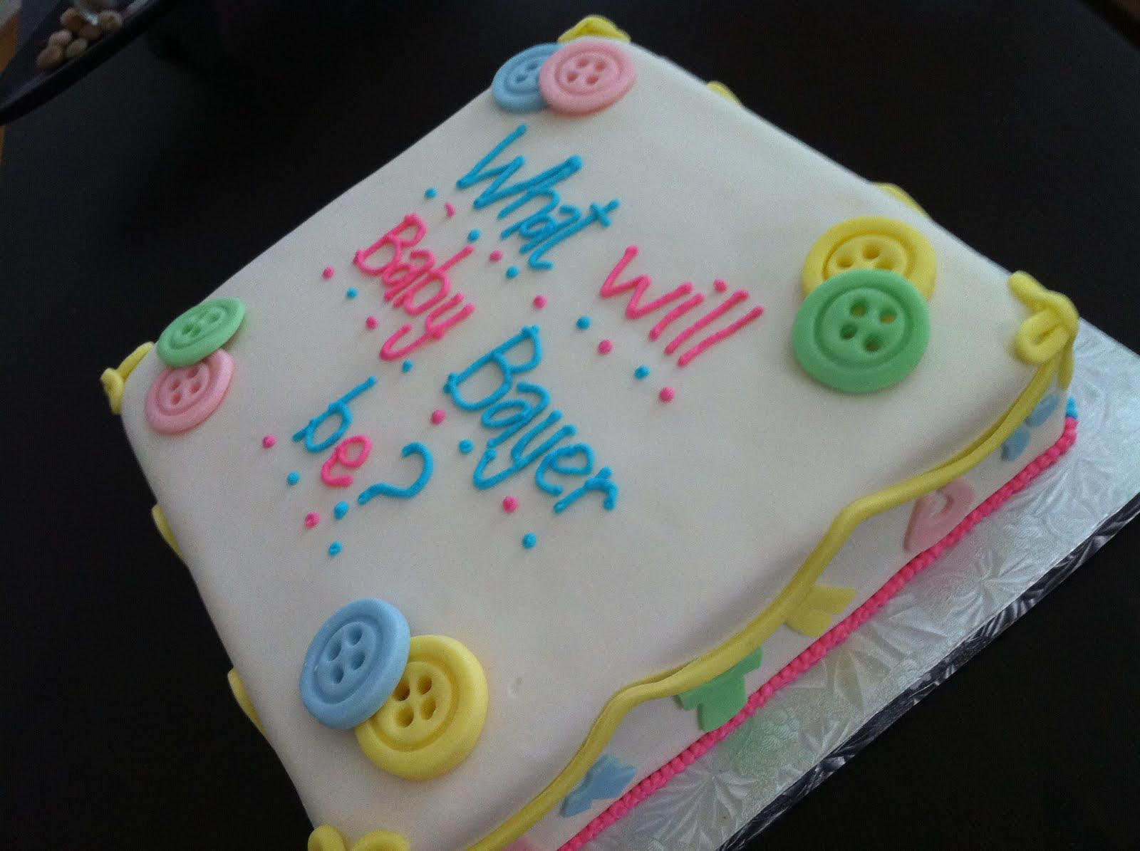 12 Photos of Simple Gender Reveal Cakes