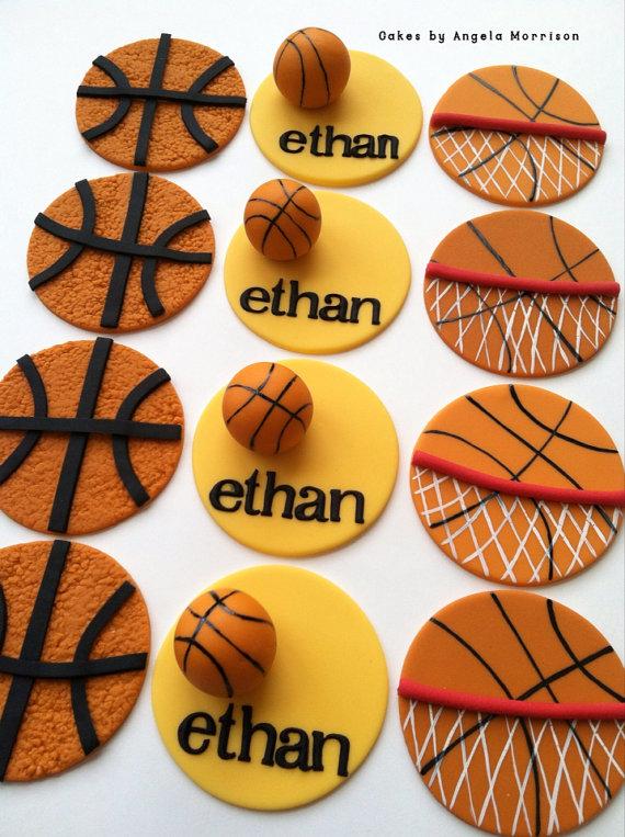 9 Photos of Basketball Cupcakes Ideas Using Fondant