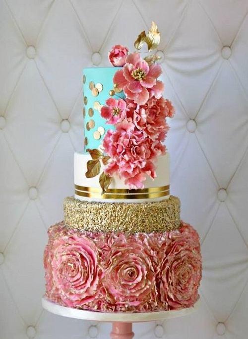 Beautiful Flower Birthday Cake
