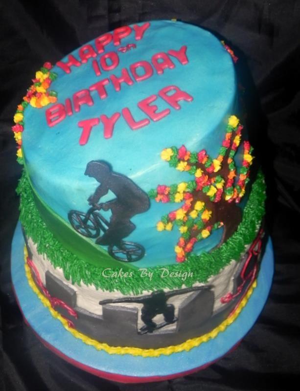BMX Themed Birthday Cakes