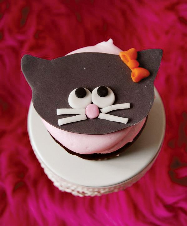Cute Cat Cupcakes for Girls Birthday Party