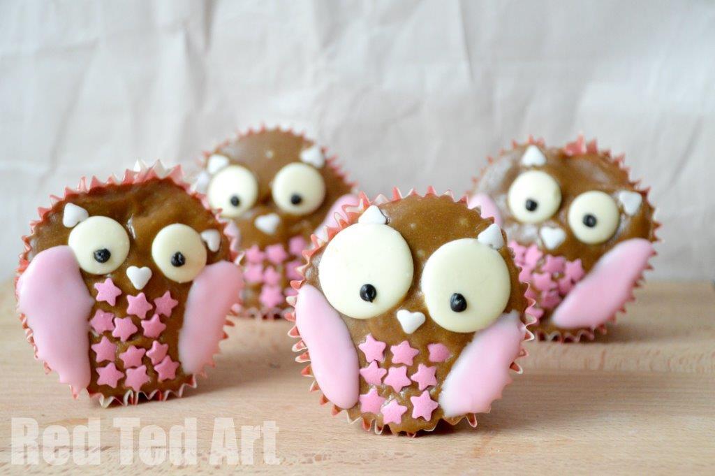 Cute Owl Cupcakes Halloween Treats