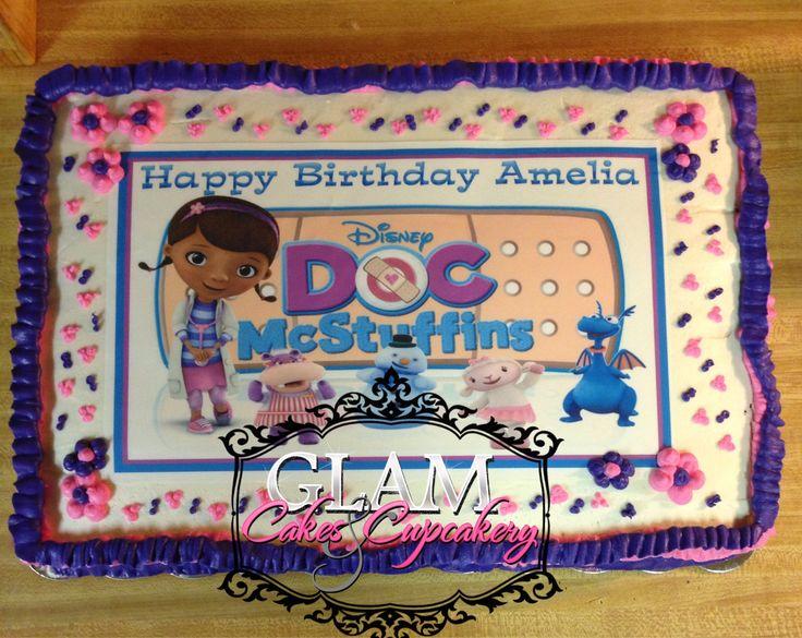 11 Photos of Doc McStuffins Cakes Half Sheet