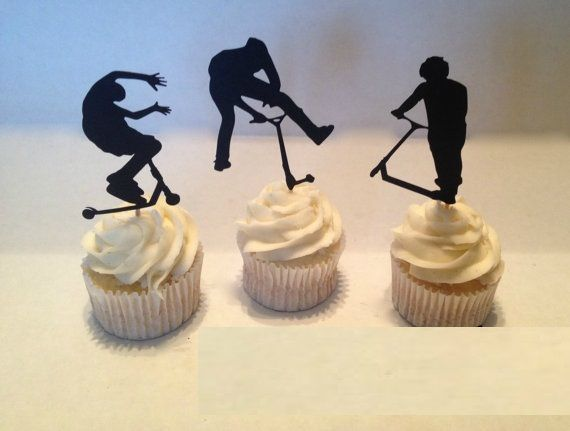 Extreme Scooter Cupcakes