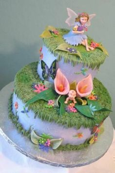 Fairy Baby Shower Cakes