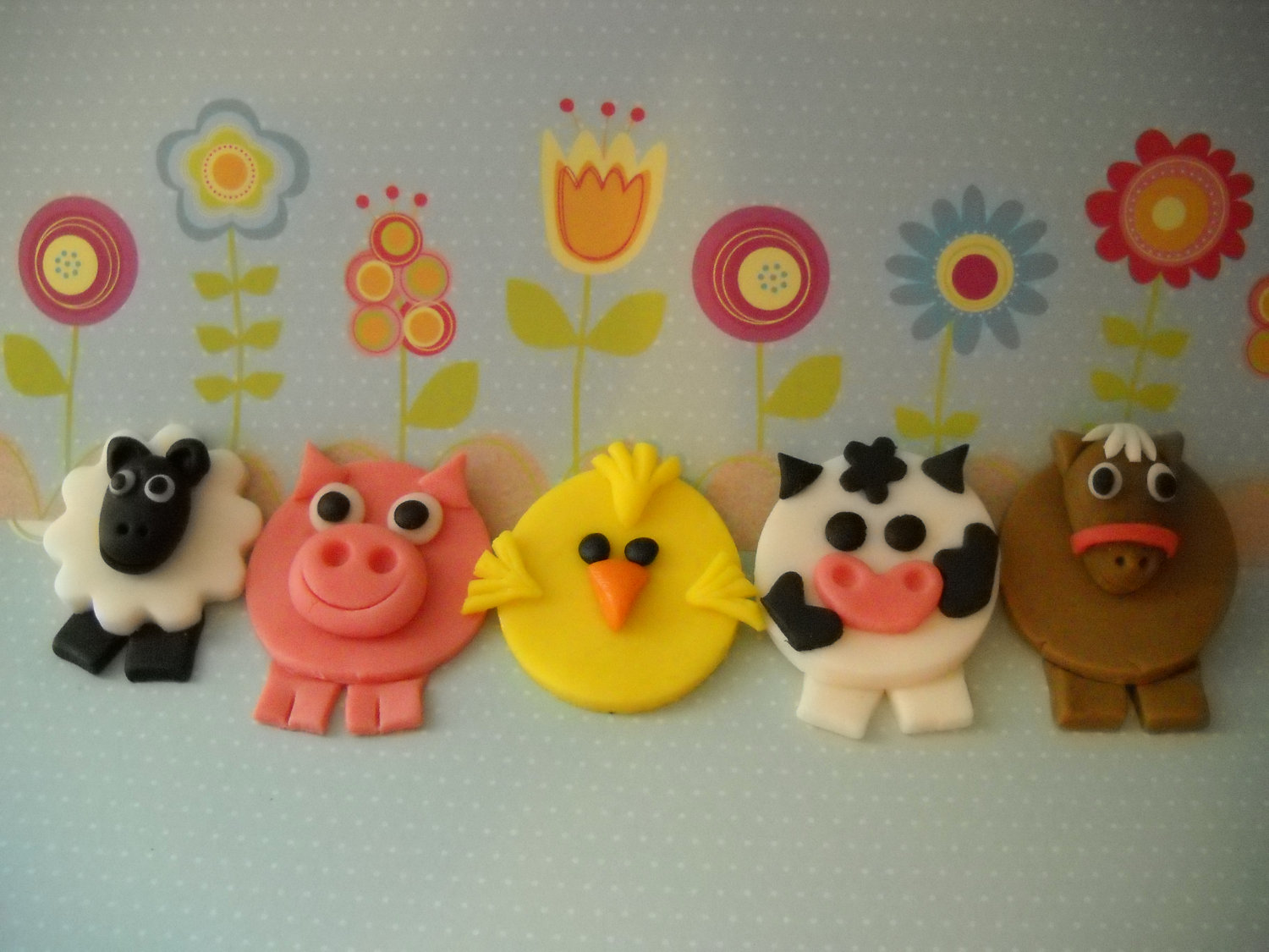 Farm Animal Edible Cupcake Toppers