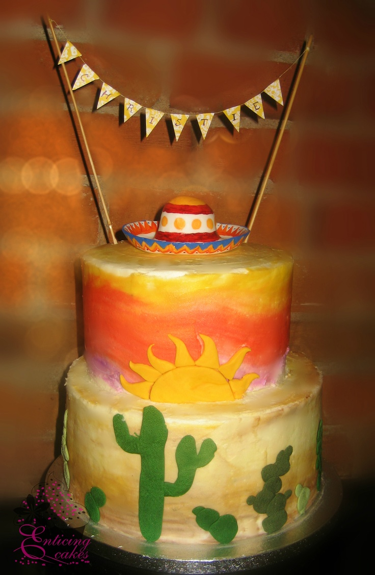 Fiesta Bridal Shower Cakes Ideas