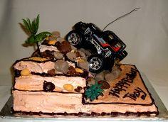 Four-Wheel Birthday Cake