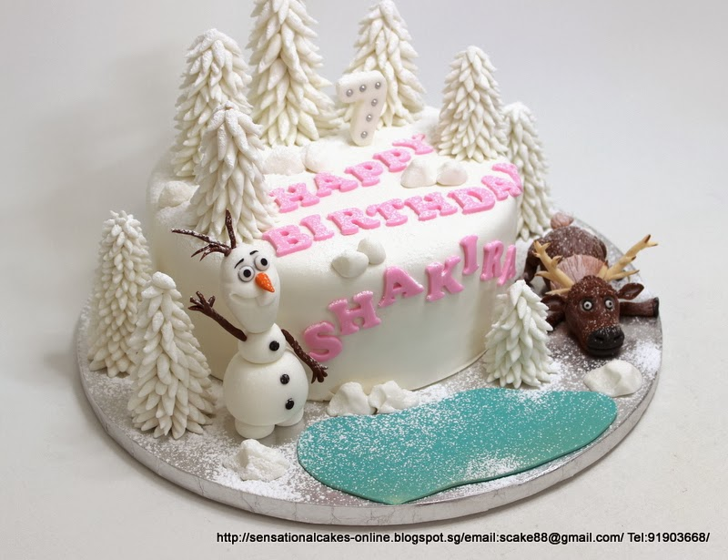 Frozen Birthday Cake Theme