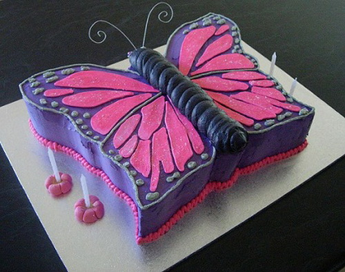 Swell 12 Butterflies Little Girl Birthday Cakes Photo Rainbow Birthday Funny Birthday Cards Online Overcheapnameinfo