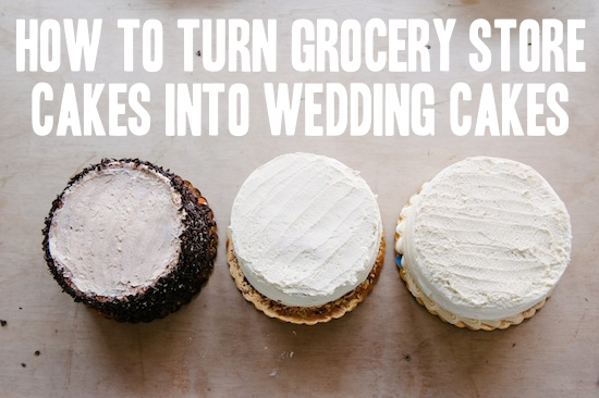 Grocery Store Wedding Cake