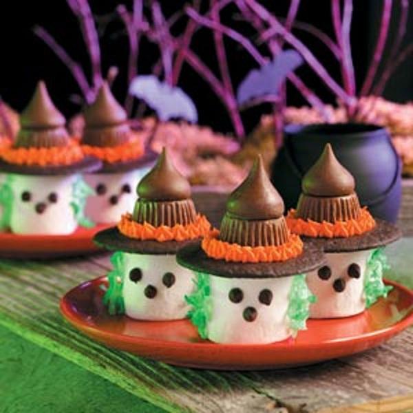 Halloween Marshmallow Witches