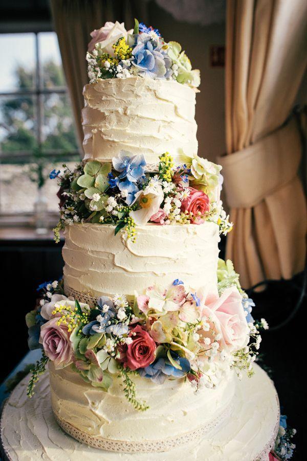 Homemade Rustic Wedding Cake