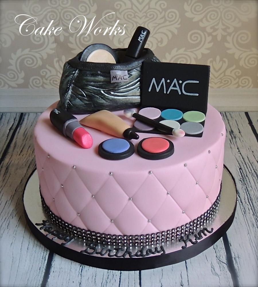 Tremendous 11 Cool Cakes Cakes Mac Makeup Cake Photo Happy Birthday Mac Personalised Birthday Cards Sponlily Jamesorg