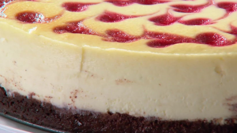 Martha Stewart Raspberry Swirl Cheesecake
