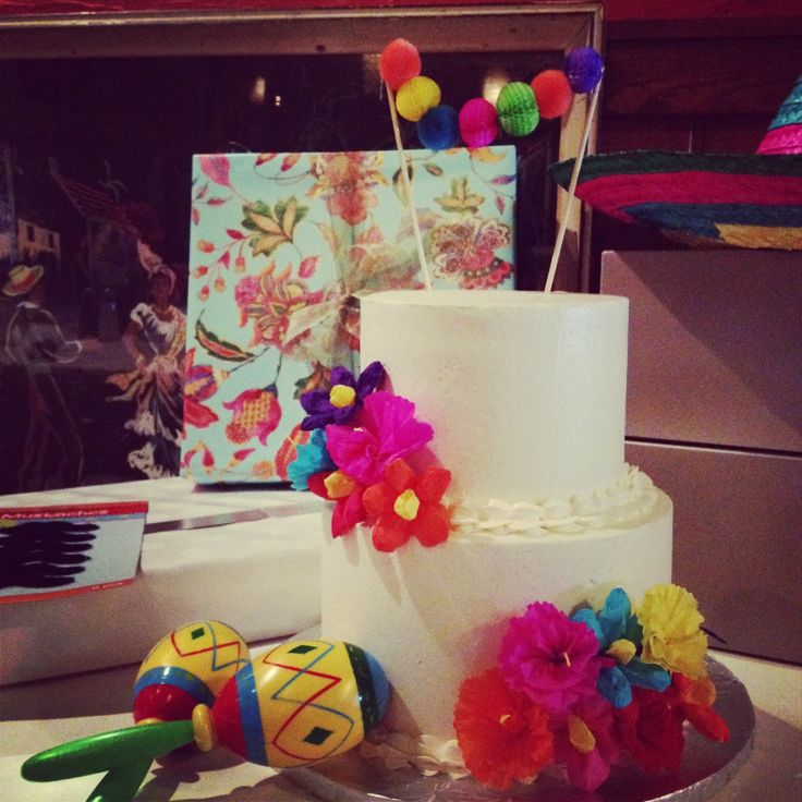 Mexican Fiesta Bridal Shower Cake