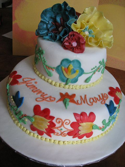 Mexican Wedding Fiesta Cake