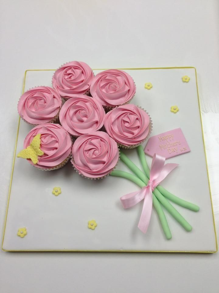7 Photos of Mother's Day Bouquet In Cupcakes And Cakes