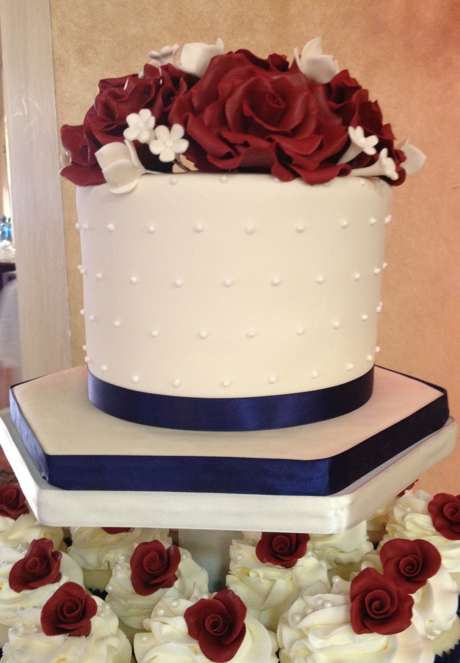 12 Burgundy And Navy Blue Wedding Cakes Photo Navy Blue And