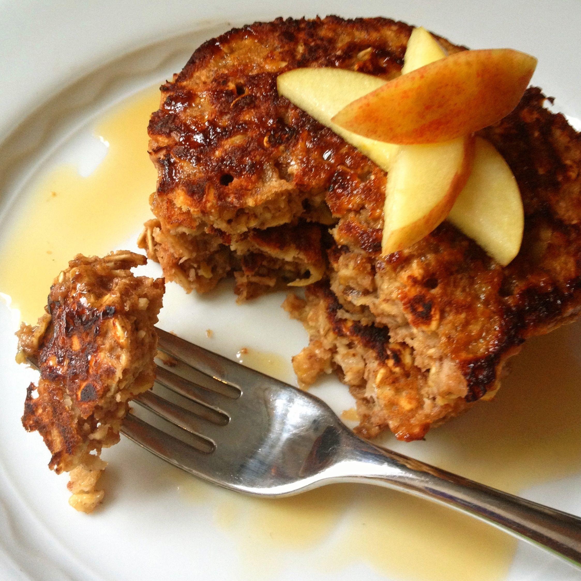 5 Photos of Apple Cinnamon Oatmeal Pancakes