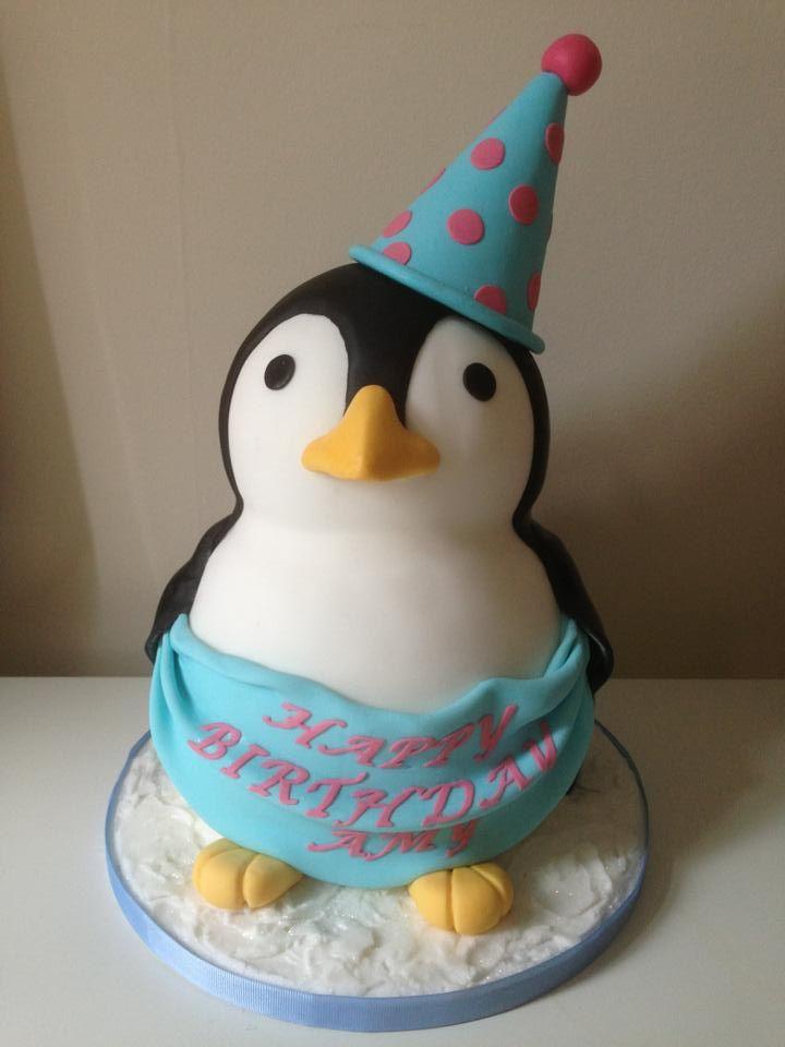 Pleasant 11 Penguin Cool Cakes For Birthdays Photo Penguin Birthday Cake Funny Birthday Cards Online Alyptdamsfinfo