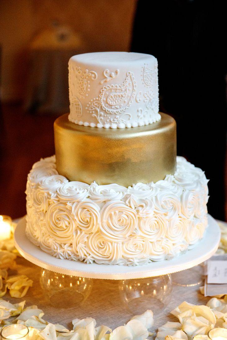 Pinterest Gold Wedding Cakes