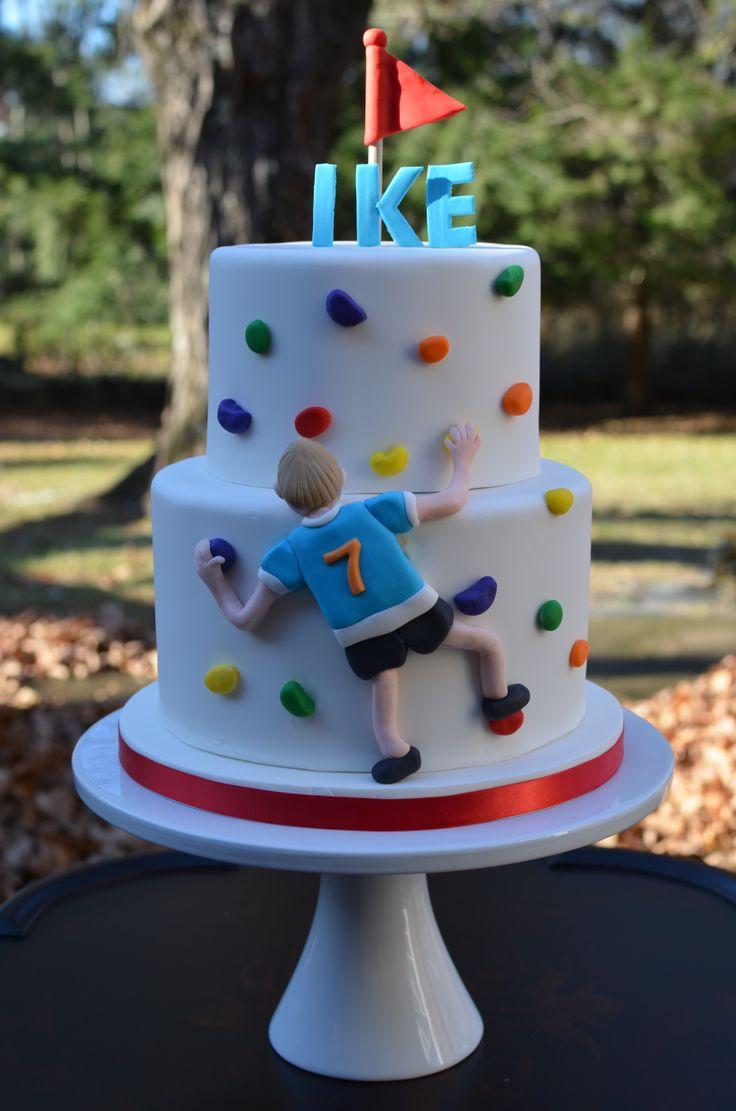 Rock Climbing Birthday Party Cake