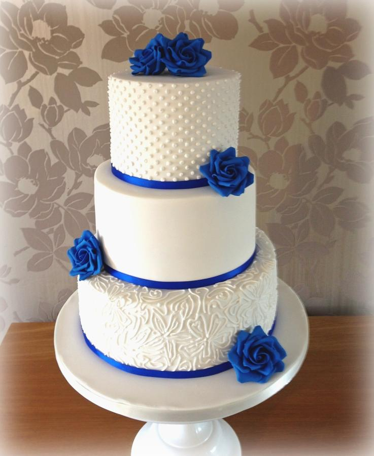 10 Royal Blue And White Wedding Cakes With Stars Photo Royal Blue