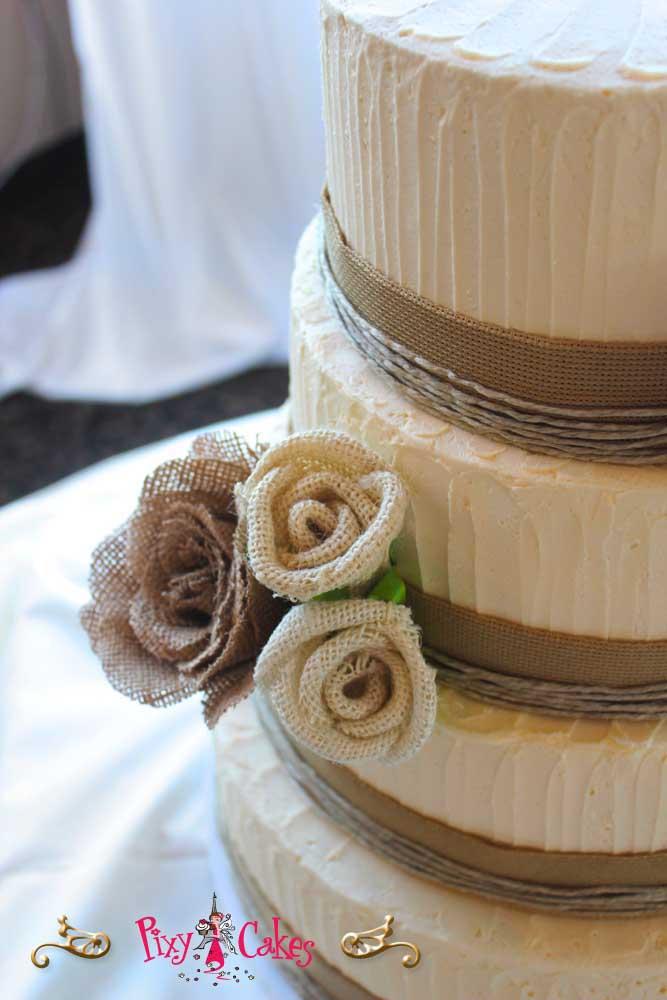 10 Photos of Cakes 4 Tiers Square Burlap