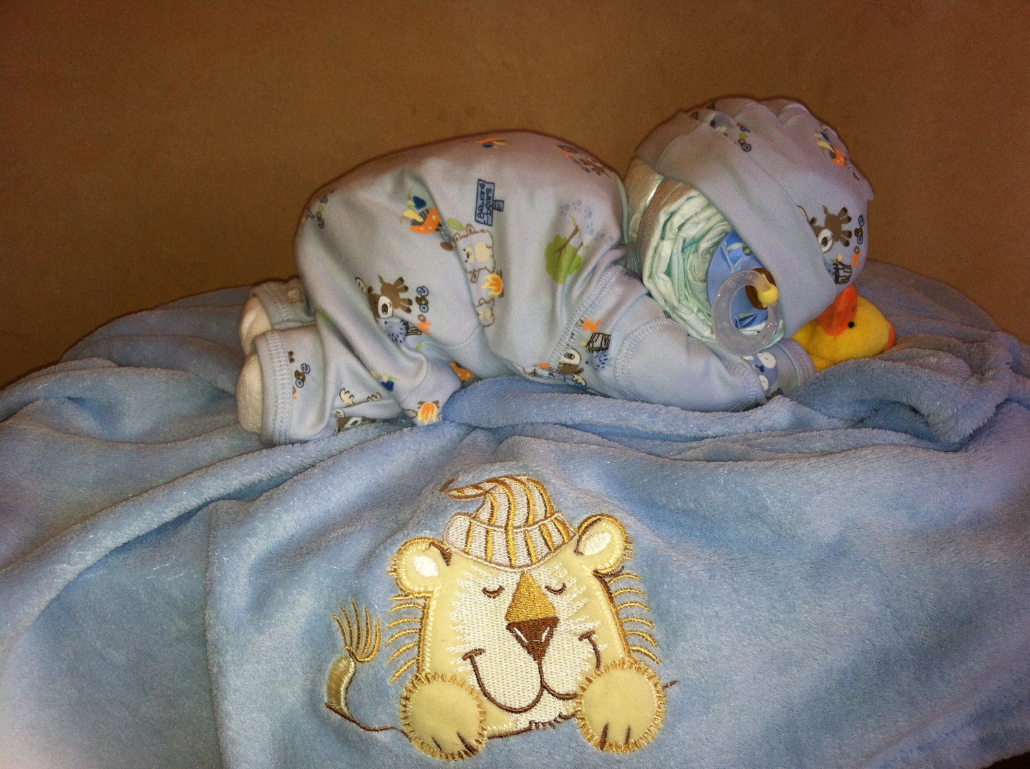 Sleeping Baby Diaper Cakes for Baby Shower