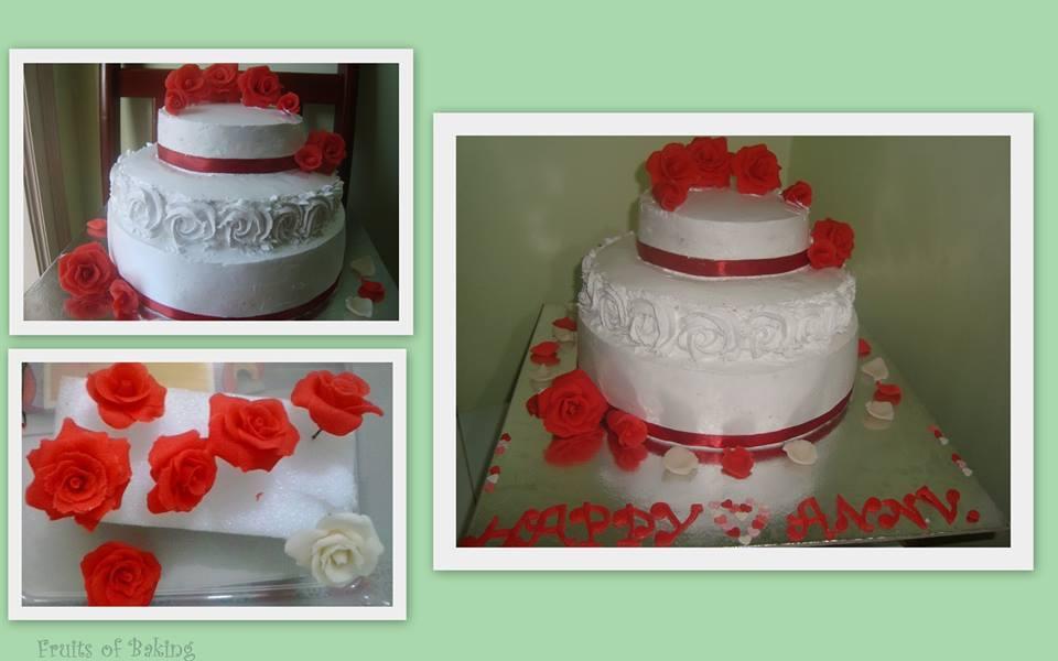 Three Tier Anniversary Cake