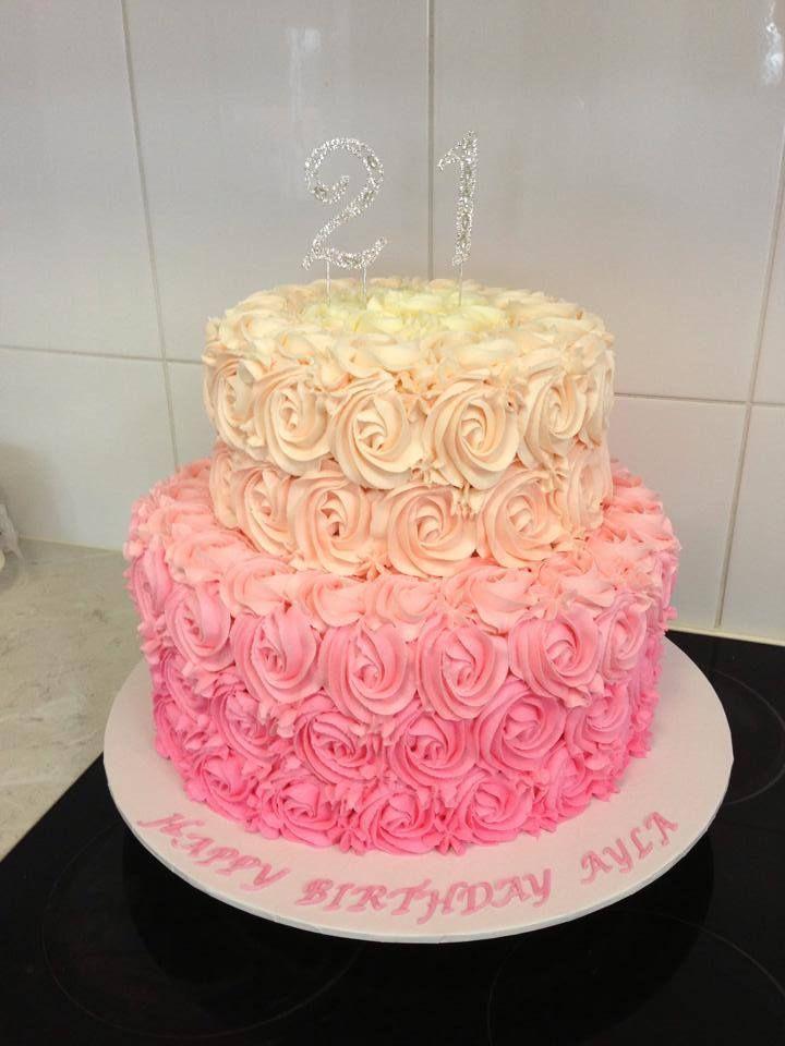 2 Tier Buttercream Birthday Cakes