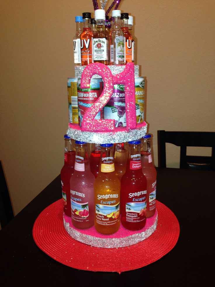 Fantastic 11 Cool 21St Birthday Liquor Cakes Photo 21St Birthday Cakes Funny Birthday Cards Online Alyptdamsfinfo