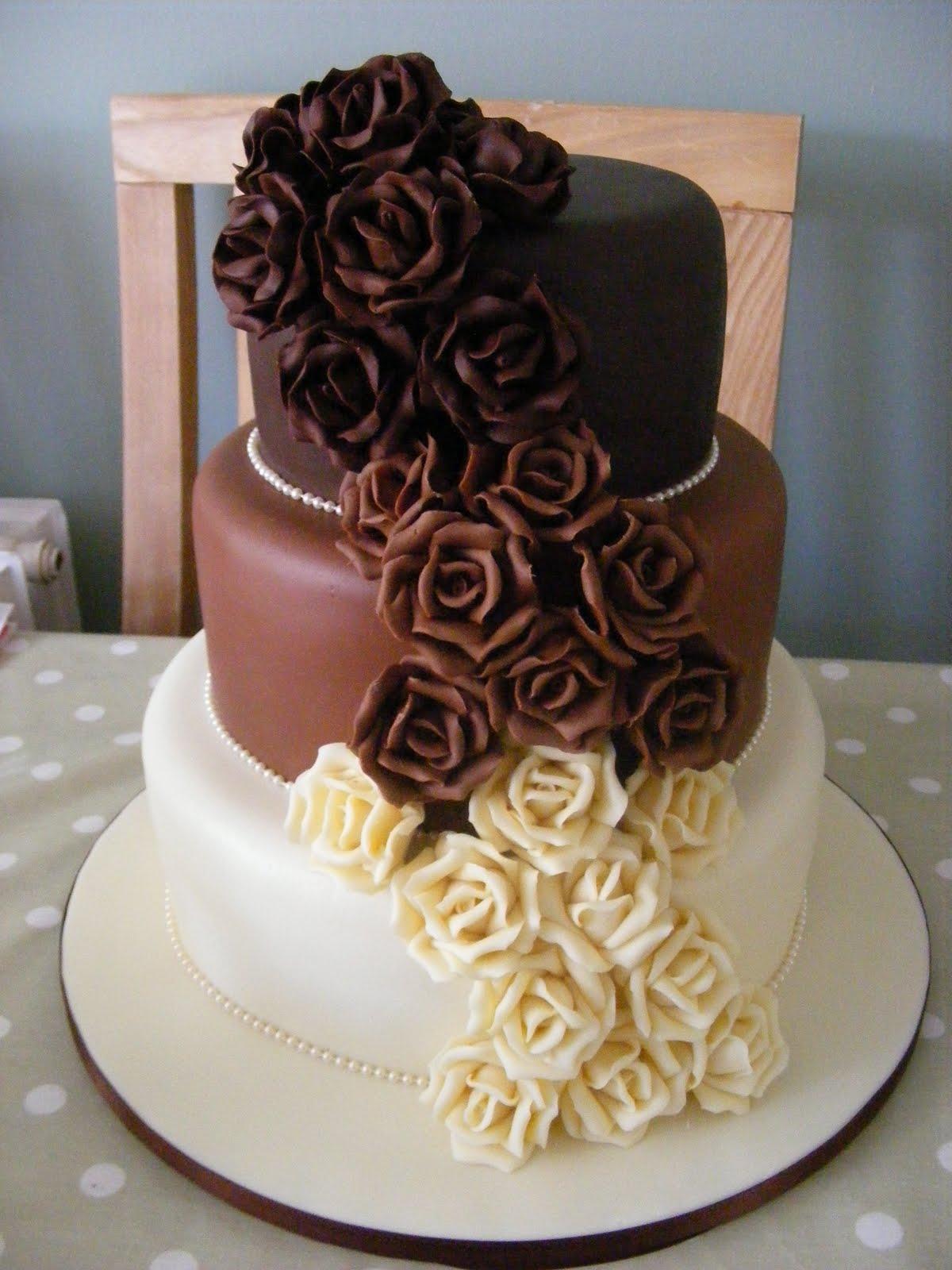 9 Photos of 3 Tier Chocolate Wedding Cakes