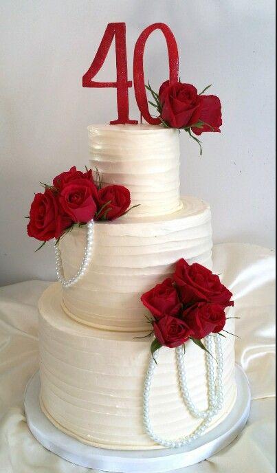 40th Wedding Anniversary Cake Decorations