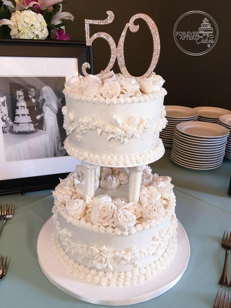 50th Wedding Anniversary Cake Buttercream