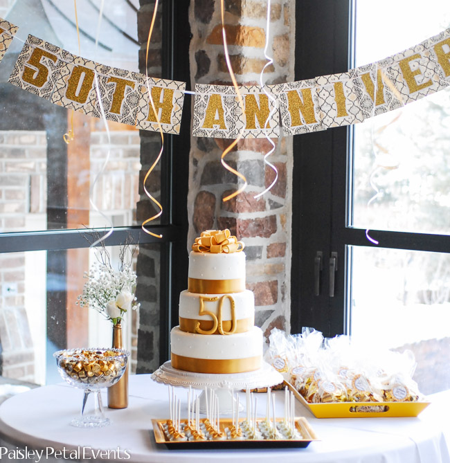 50th Wedding Anniversary Table Ideas