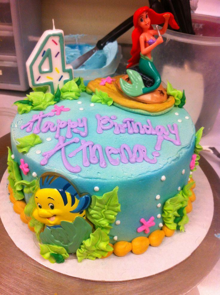 6 Ariel Disney Birthday Cakes Photo