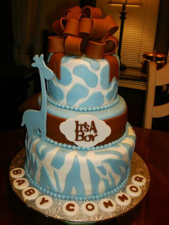 10 Photos of Giraffe Print Baby Shower Cakes