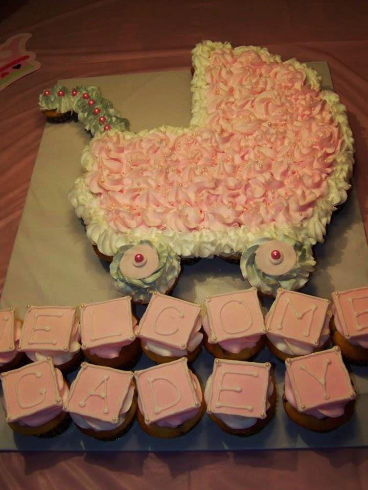10 Photos of Carriage Baby Shower Cupcakes